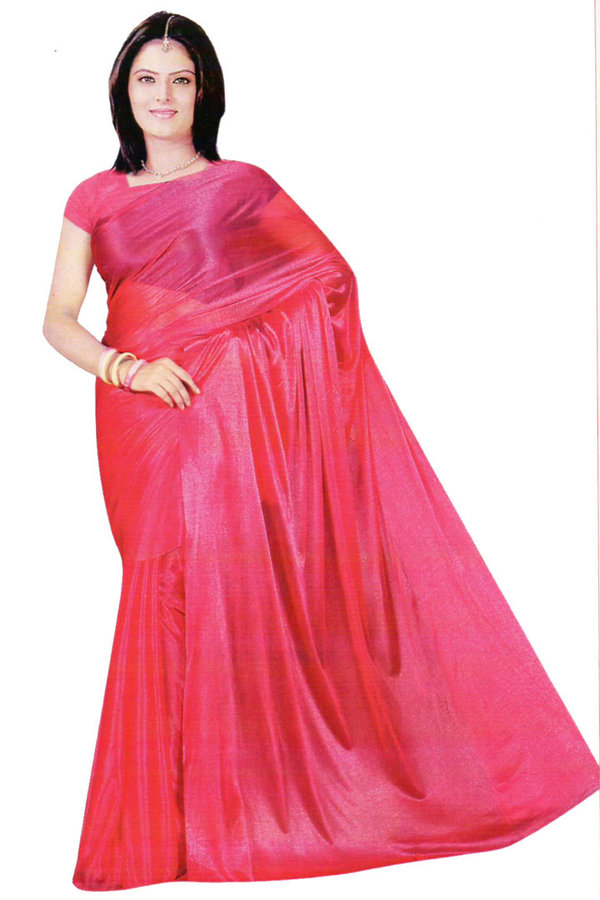 Pink Bollywood Sari Viscose